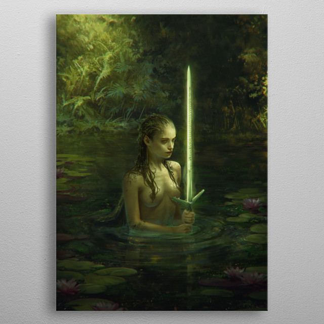 Lady of the Lake  metal poster