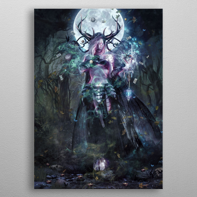 Art by Cameron Gray metal poster