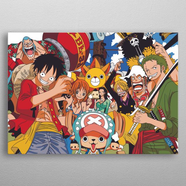 crew mugiwara luffy from anime or manga onepiece  metal poster