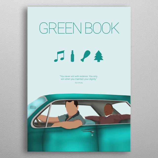 Green Book - Minimal Movie Fanart Alternative Poster.  metal poster