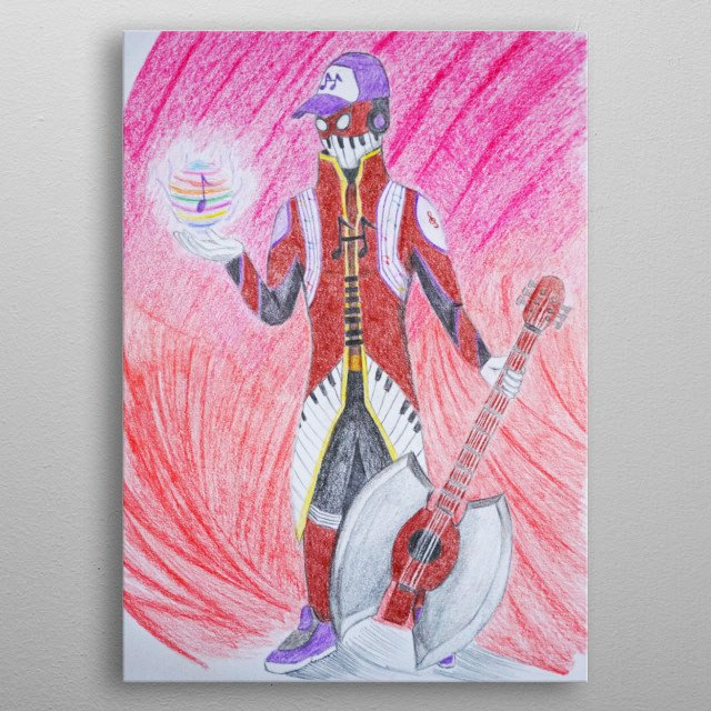 Hello everyone! It's Musicman, he have lot of super power that can beat the enemies. His music can heal and save people! Hope you like it.  metal poster