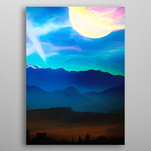 Signs in the Sky - Planets action up metal poster