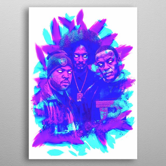 3 IMMORTAL RAP GODS SNOOP, DRE, CUBE metal poster