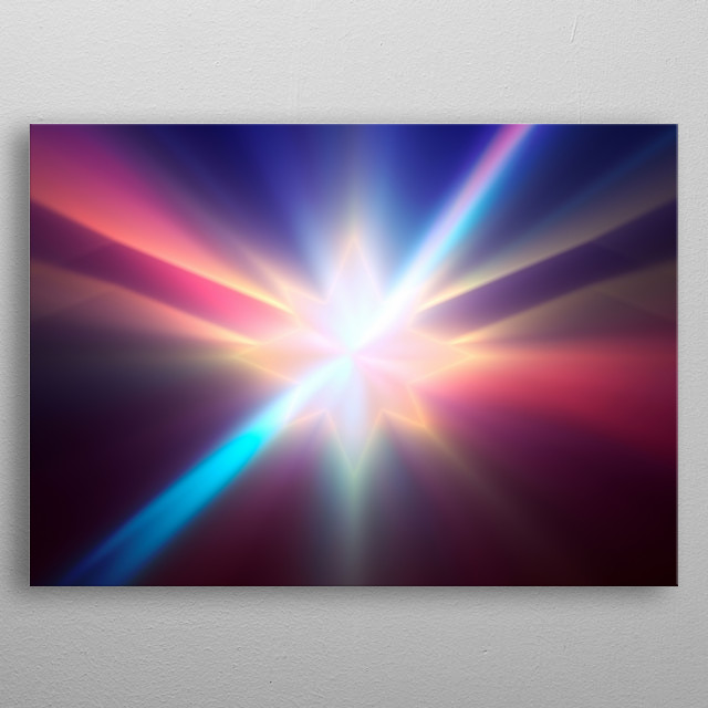 Energy projection and absorption metal poster