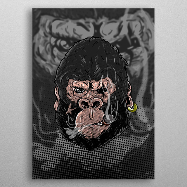 this is illujstration KIng Kong with smoke  software : Photoshop cc 2015 metal poster