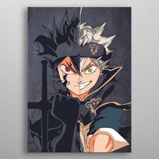 member of black bull from anime black clover metal poster