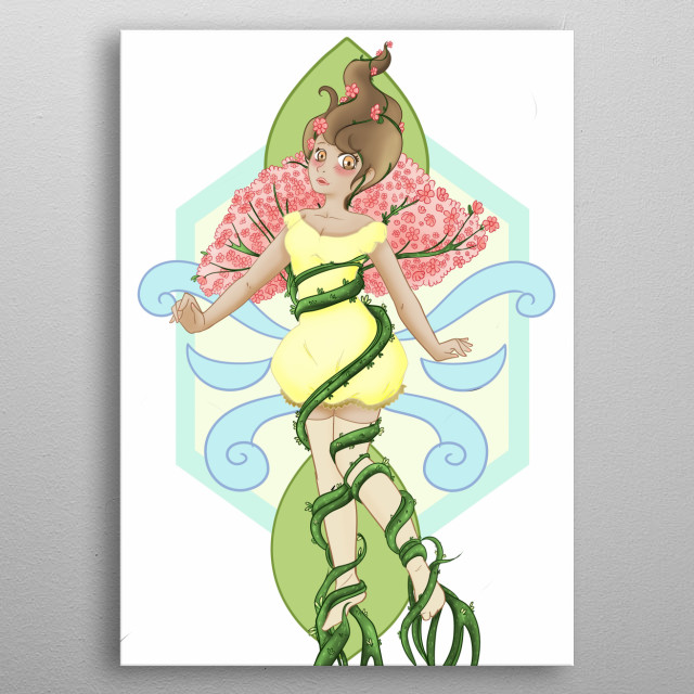 Nature Girl is more like a counselor. Always whispering in your ear to do the right thing and never harm the nature. metal poster