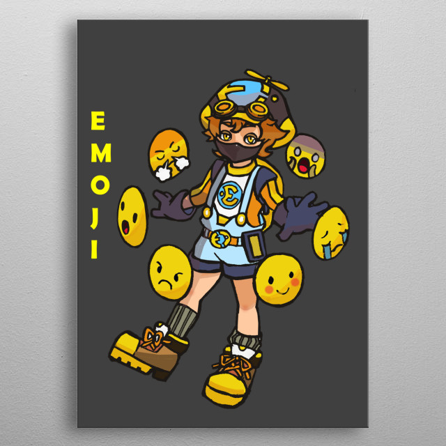 he is tech specialist that uses emoji as his primary weapon. metal poster