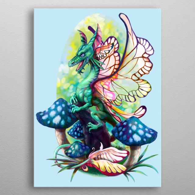 Painted in Clip Studio Paint EX metal poster