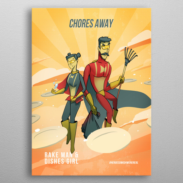 every kid's dream - a chore-free summer! say goodbye to chores in summer coz your favorite heroes are here to rescue youuu :3 metal poster