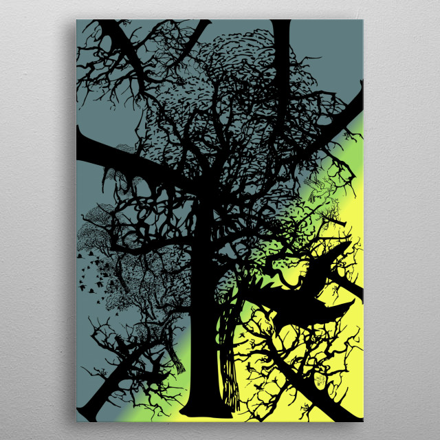 nature is yours make it as u want.. metal poster