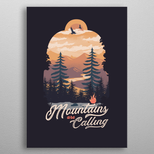 Mountains are Calling metal poster