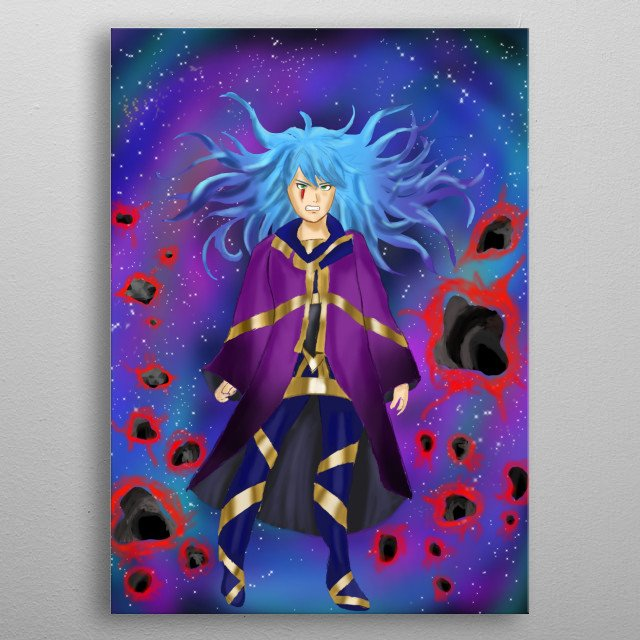 Born with the power of telekinesis. Her emotional state may decide the fate of the world. metal poster