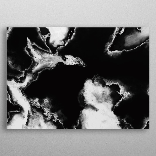 Black & White Abstract Painting  metal poster