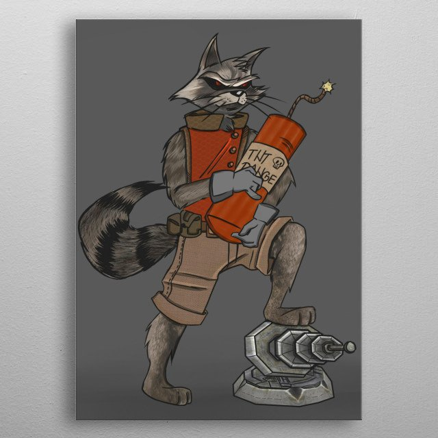 Long lost cousin of the Rocket family. He is even more hectic and mischief than his bro Rocket. He always have special surprise with him! metal poster