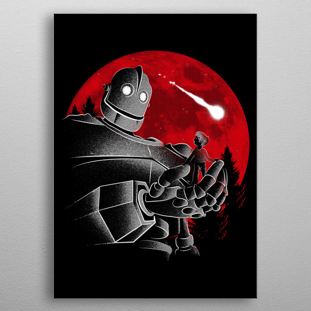 Design inspired by the movie The Iron Giant. metal poster