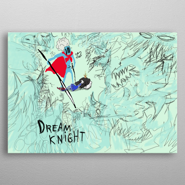 I wanted to help one little girl to defeat her nightmares so I made that night to protect her dreams c: metal poster
