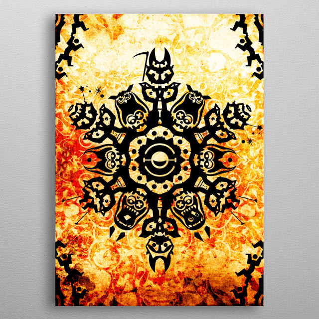Techno collection Sheper metal poster