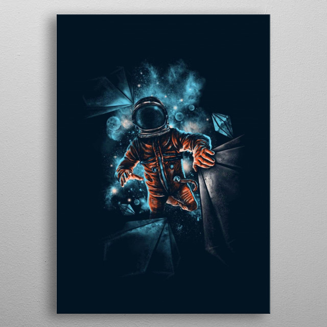 Diamond Stars ≈ Cosmic Collection • The brightness of a star can be compared to the bright shine a diamond gives off when light reflects.  metal poster
