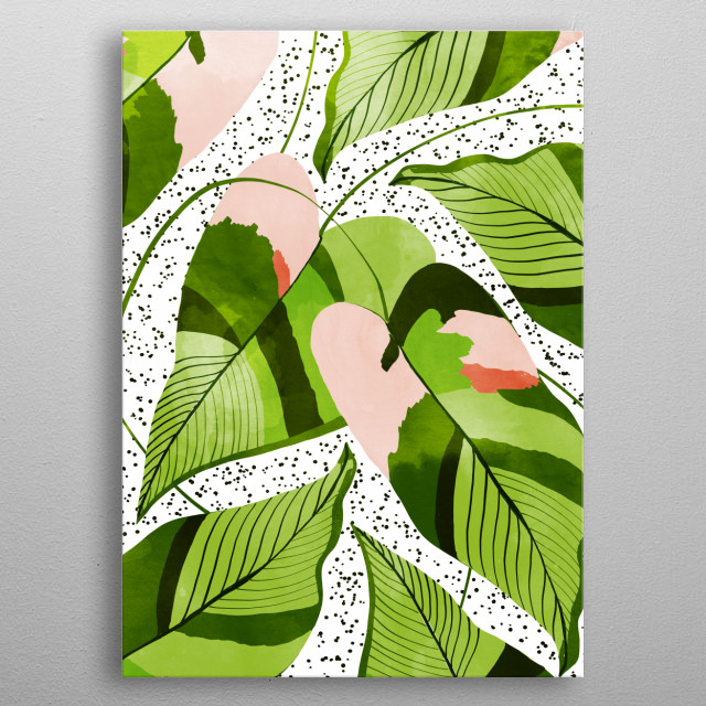 Beautiful house plant illustration/painting metal poster