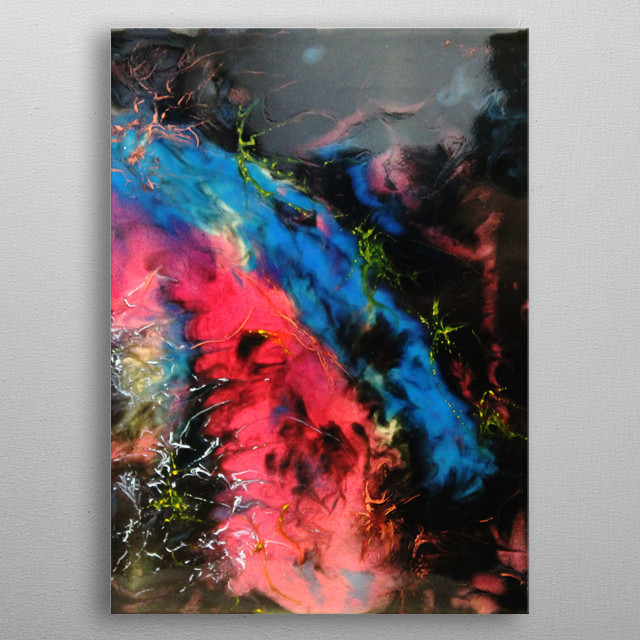 Colourful Abstract Painting metal poster