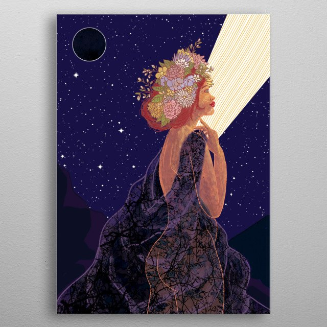She unveils herself from the heavy toxic blanket of the past, and she starts to blossom into a newer, brighter, stronger self-loving light. metal poster