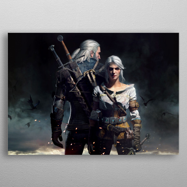 High-quality metal print from amazing Wild Hunt Characters Horizontal collection will bring unique style to your space and will show off your personality. metal poster