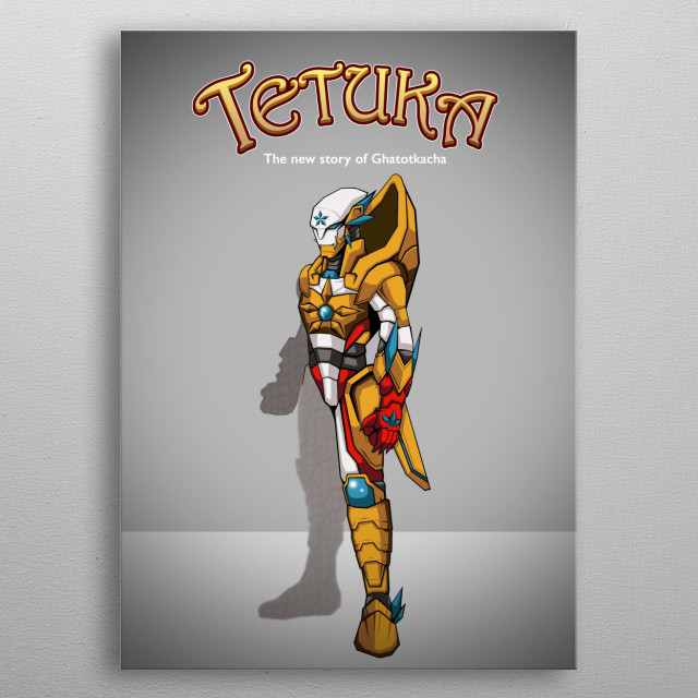 I create this character and story at 2008 metal poster