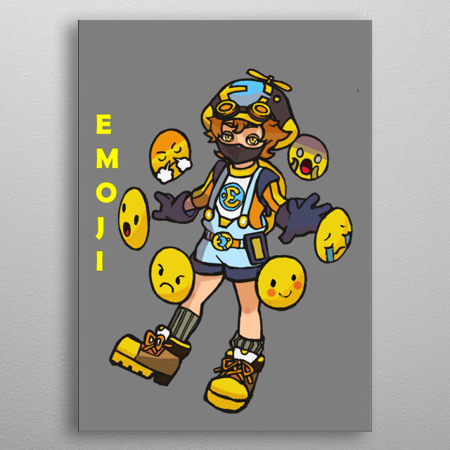 He is a tech specialist that uses his emoji as his primary weapon that possesses different kind of ability. metal poster