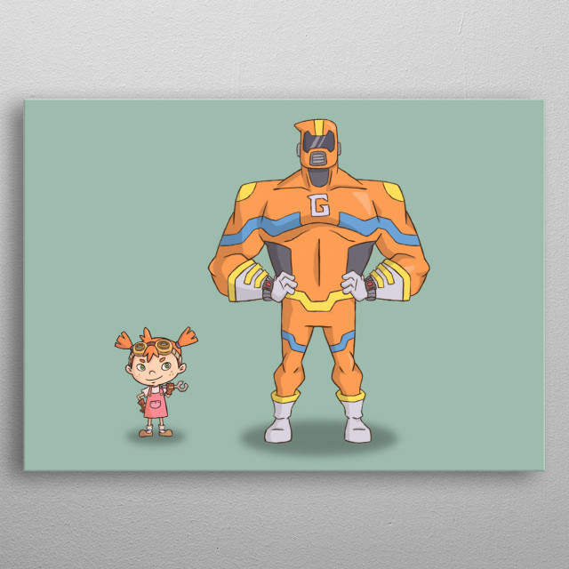 Goliath is a popular local superhero. But in secret, he is a robot created and piloted by Davina, the toddler genius metal poster