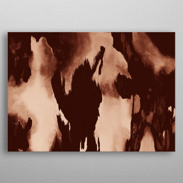 Abstract Painting metal poster