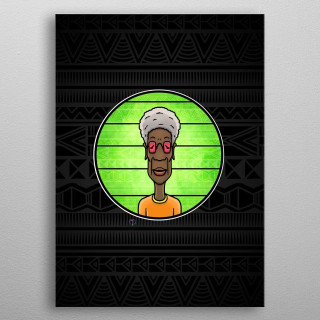 Digital illustration of African people. Its inspired by my living in Africa. metal poster