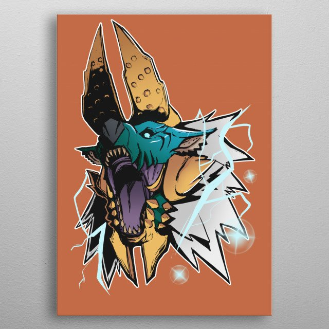 Another one of my Monster hunter artworks metal poster