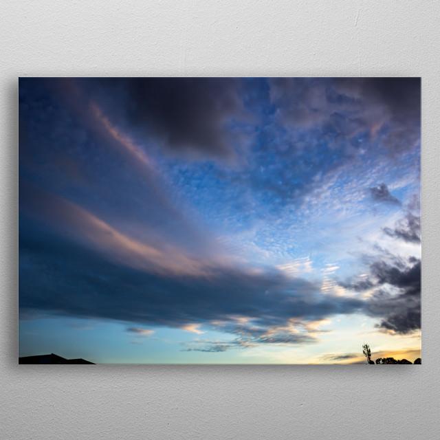 beautiful sky at sunset metal poster