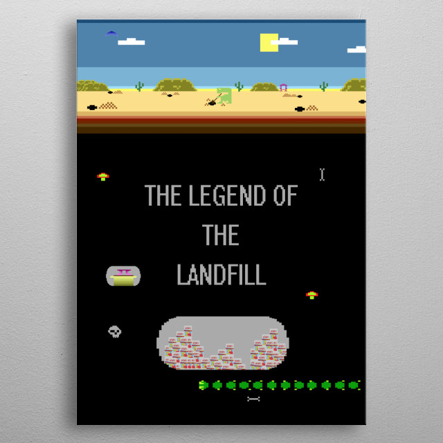A tired old gaming legend goes searching for his legacy. metal poster