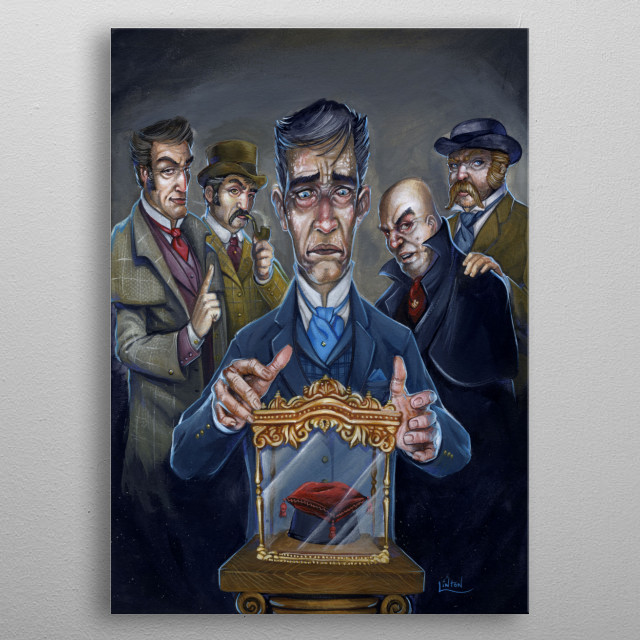 #11 'Sherlock Holmes and The Other Eye' - from The Art Of Sherlock Holmes - Artist JR Linton - Authors Richard Dean Starr and E R Bower. metal poster