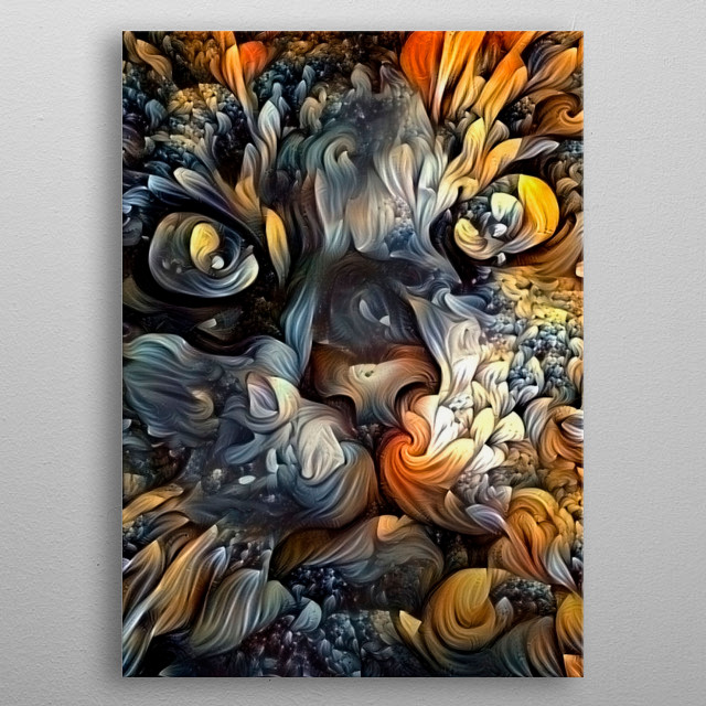 Modern Art. Cat Painting metal poster