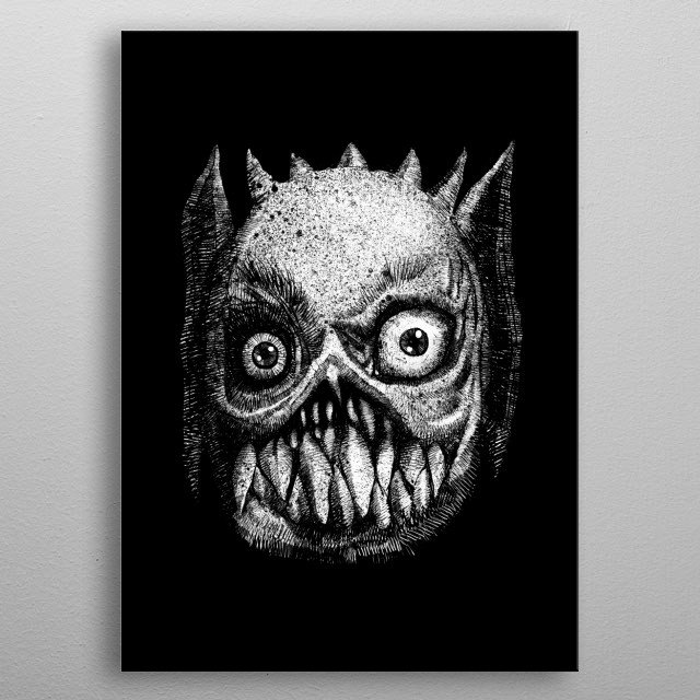 Monster from my mind metal poster