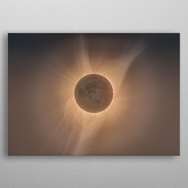 A cool photo of an eclipse metal poster
