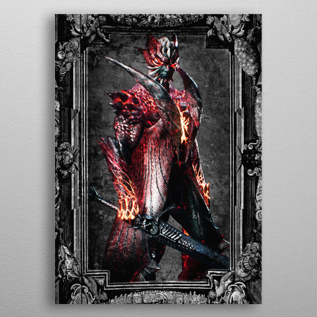 Lord Dante Sparda devil trigger metal poster