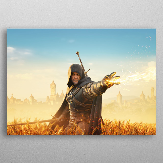 Geralt Igni metal poster