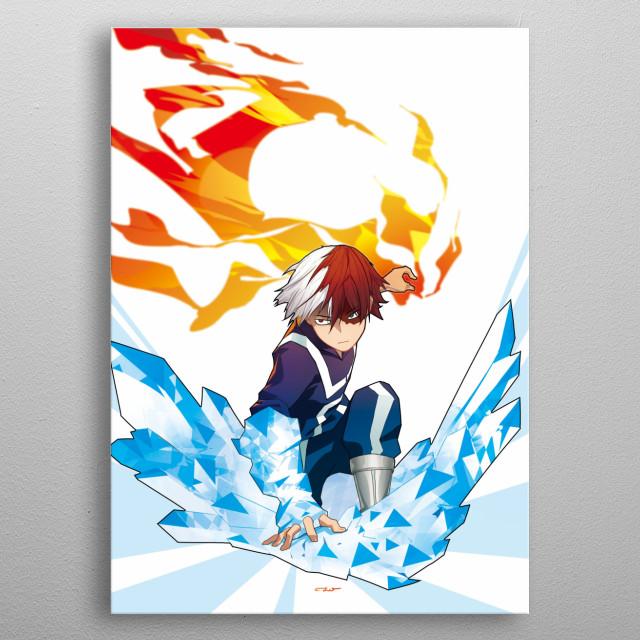 fan art o My hero Academia metal poster