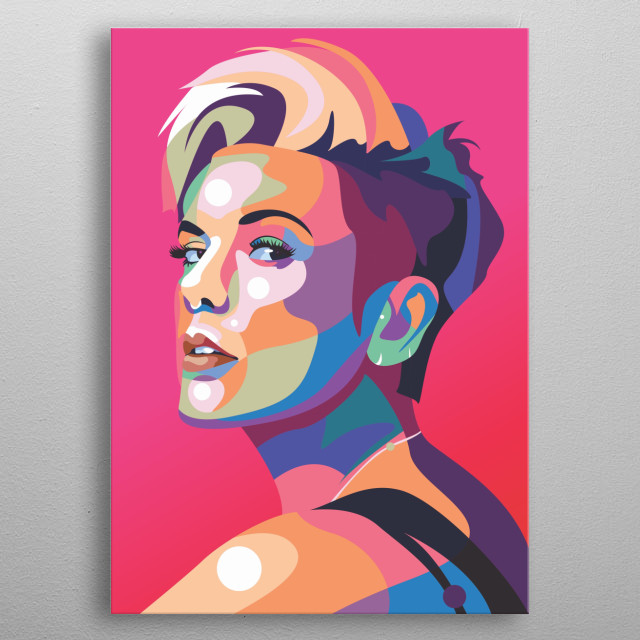 Betty Who singer in pop art style metal poster