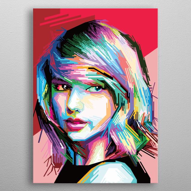 Taylor Swift Pop Art by Triplekman Contemporary Pop Art. we only make good pop art. see our art on  metal poster