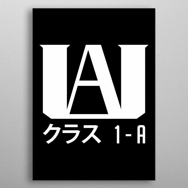 U.A. High School! metal poster