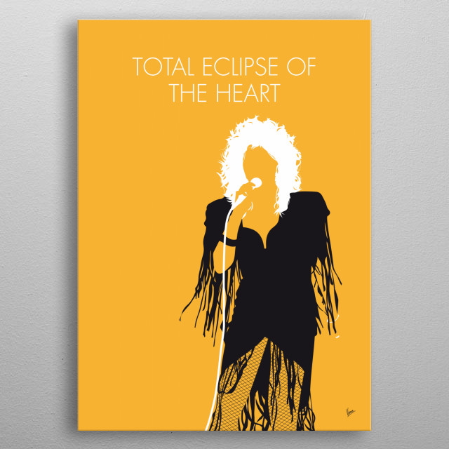 """""""Total Eclipse of the Heart"""" is a song recorded by Welsh singer Bonnie Tyler. It was written and produced by Jim Steinman. metal poster"""