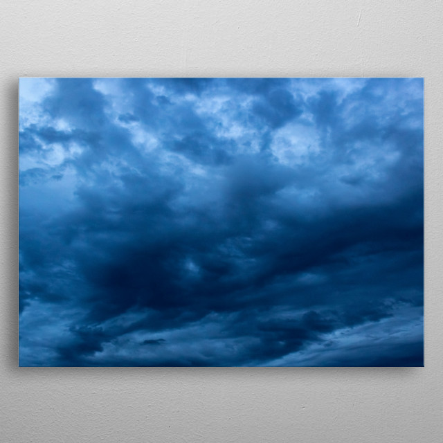 sky and clouds before the storm metal poster