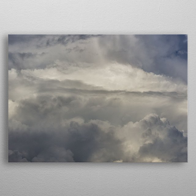 beautiful sky and clouds metal poster