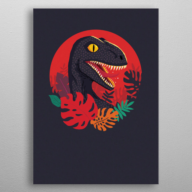 For those long Jurassic summers. metal poster