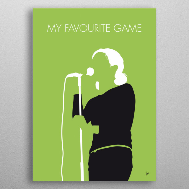 """""""My Favourite Game"""" is an alternative rock song written by Peter Svensson and Nina Persson for The Cardigans' 1998 album Gran Turismo.   metal poster"""